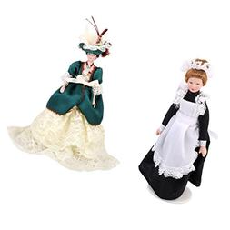 Dovewill 6inch Height 1/12 Scale Dollhouse Miniature Dolls F