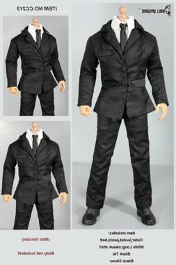 1/6 DOLLSFIGURE MIB Black Men Suit Full Set cc213-1