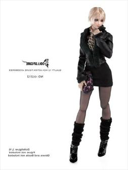 Artcreator_BM 1/6 Female Fox fur collar leather jacket & Acc