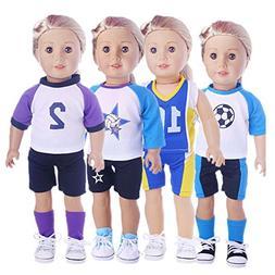Sunward 1 Set Sportswear For 18 Inch American Girl Doll Gift