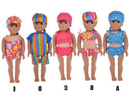 Sunward 1 Set Swimwear Swimsuit For 18 Inch American Girl Do