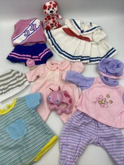 """10""""- 12"""" Baby Doll Clothes Lot Fits Corolle Berenguer Baby A"""