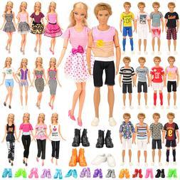 Barwa 10 KEN clothes + 5 Barbie pants + 5 dress + 4 KEN shoe