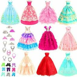 BARWA 10 Pcs Dresses with 17 Accessories