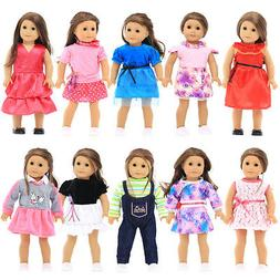 10 Different 18 inches Doll Clothes Fit American Girls Doll