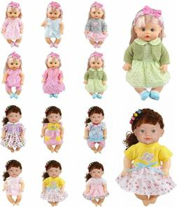 Huang Cheng Toys 12 Pcs 12 Inch Doll Clothes Alive Baby Dres