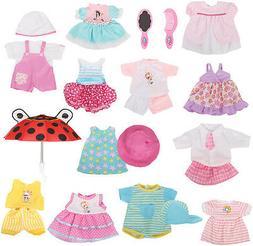 Huang Cheng Toys 12 Pcs Set Handmade Baby Doll Clothes Dress