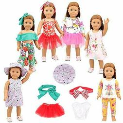 BARWA 13 PCS 18 inch Doll Clothes Accessories for American 1
