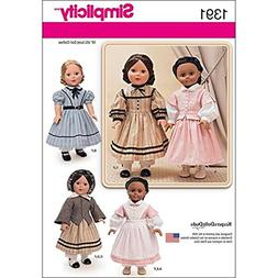 Simplicity Creative Patterns 1391 Civil War Doll Costume for
