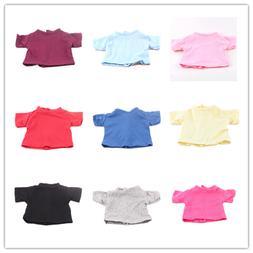 14 Colors <font><b>Doll</b></font> T-shirt Solid Color <font