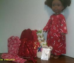 14' Doll Clothes made to fit Wellie Wisher Lot 0f 8--Dresses