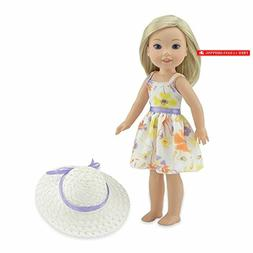 Emily Rose 14 Inch Doll Clothes | Chiffon Easter Doll Dress