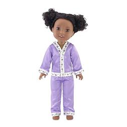 Emily Rose 14 Inch Doll Clothes | Lavender 2 Piece Doll East