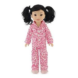 Emily Rose 14 Inch Doll Clothes| Pink Leopard 3 Piece Doll P