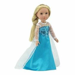 Emily Rose 14 Inch Doll Clothes  Princess Elsa Frozen Inspir