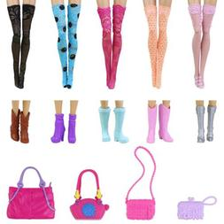 14 Items = 5x Lace Stocking Sock +5 Pairs Boots +4 Bags for
