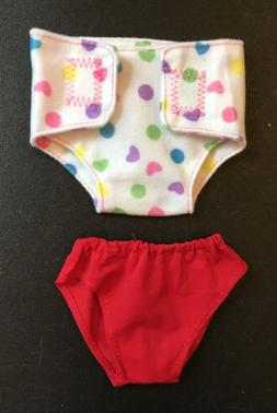 "15"" & 16"" Kids Doll Clothes Diaper & Red Panties Potty T"