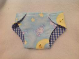 "15"" doll cloth diaper sheep moon stars girl/boy clothes Bitt"