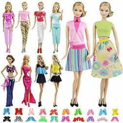 "ZITA ELEMENT 15 PCS 11.5"" Doll Dress Accessories Set 