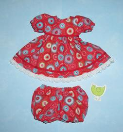 "Handmade Doll Clothes for 16"" - 18"" Baby Dolls - ""Summer Tim"