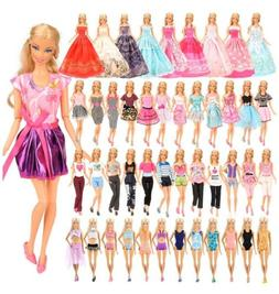 BARWA 16 Pack Doll Clothes and Accessories 5 PCS Fashion Dre