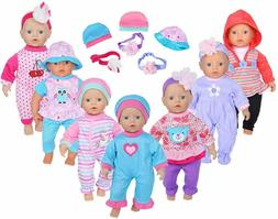"16pcs Doll Playtime Outfits Clothes Hat Headband for 10""-12"""