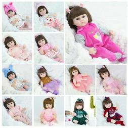 17'' Reborn Baby Girls Doll Accompany Lifelike Toddler Bebe