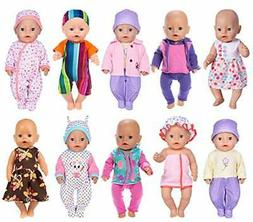 ebuddy 17pc/Set Doll Clothes with Hat and Coat for 43cm New