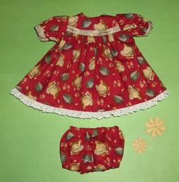 "Handmade Doll Clothes for 18"" - 20"" Baby Dolls - ""Breakfast?"