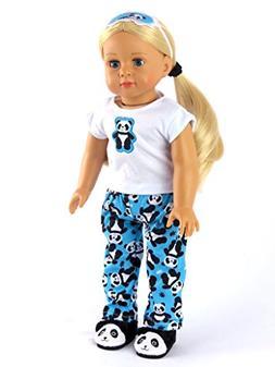 18 Inch Doll Clothes - Panda Bear Pajamas American Girl Doll