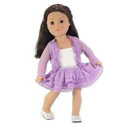 18 Inch Doll Clothes Purple Cardigan Tutu Style Skirt Outfit