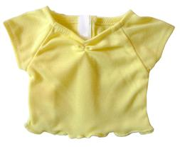 "For 18"" American Girl Doll Clothes Yellow Cinched T-Shirt Ru"