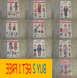 "SIMPLICITY 18"" AMERICAN GIRL DOLL CLOTHES PATTERNS / DISNEY"