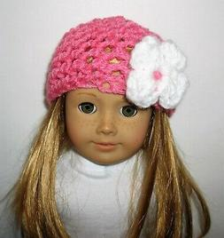 "18"" doll clothes fit American Girl CROCHETED HAT Perfectly P"