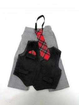 """18"""" doll clothes Gray and Black Formal outfit, pants and ves"""