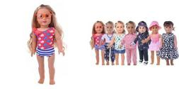 ZWSISU 18-Inch 7 Outfits Clothes For American Girl Doll Acce