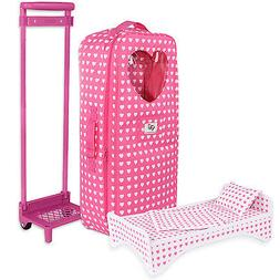 18 Inch Doll Travel Carrier Trolley With Foldable