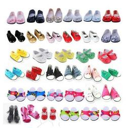 For 18 inch American Doll Doll Shoes Clothes Cavans Sneakers