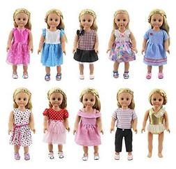 XADP 18 Inch Doll Clothes 10 Different Unique Styles Outfits