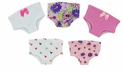 PZAS Toys 18 Inch Doll Clothes - 5 Piece Doll Underwear Set,