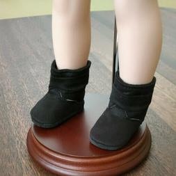 14 inch Doll Clothes ~  BLACK BOOTS ~ FASHION RAIN  SHOES ~