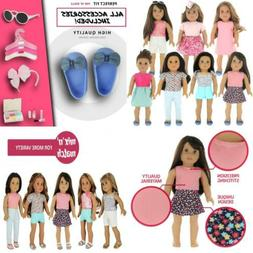 PZAS Toys 18 Inch Doll Clothes - Fits American Girl with...