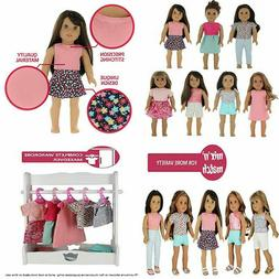 PZAS Toys 18 Inch Doll Clothes - Fits American Girl Clothes-