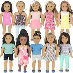 PZAS Toys 18 Inch Doll Clothes - Fits American Girl Doll Clo