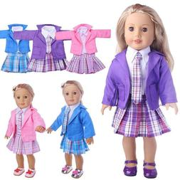 18 Inch Doll Clothes Skirt Blouse Blazer Tie Made To Fit Ame