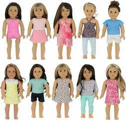 PZAS Toys 18 Inch Doll Clothes  Wardrobe Makeover 10 Outfits