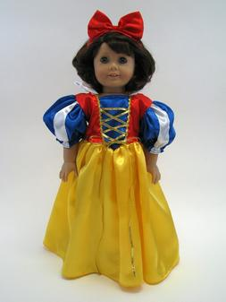 18 Inch Doll Dress Snow White Inspired Costume Fits American