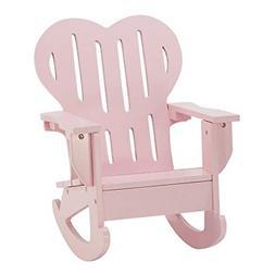 18 Inch Doll Furniture   Pink Outdoor Adirondack Rocking Cha