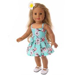 18 Inch Doll Summer Blue Dress Outfit for American Girl Doll
