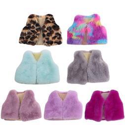 18 inch Girls <font><b>doll</b></font> dress fur vest coat A